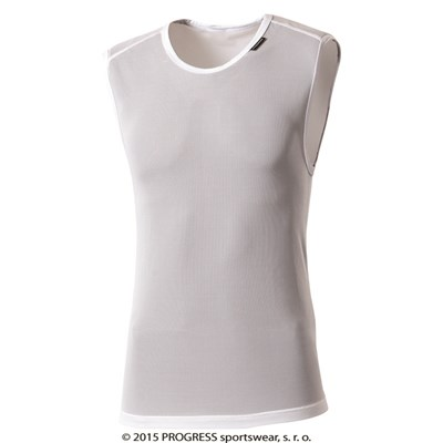 LITE mesh baselayer sleeveless T-shirt white