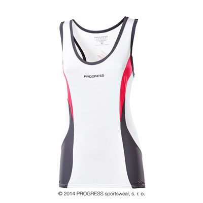 STELLA ladies cycling singlet white