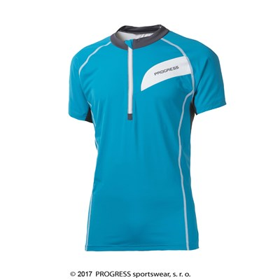 ORION mens cycling short sleeve jersey turquoise/grey