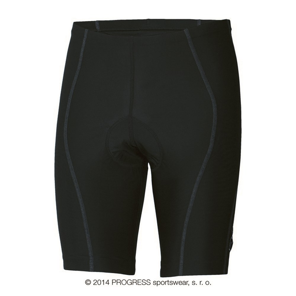 BS ACTIV mens short tights with padding black/grey sew.