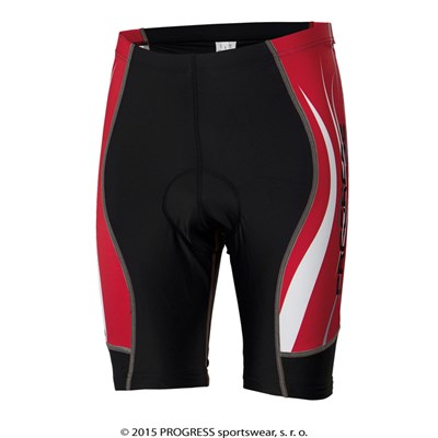 RIDER SHORTS mens short tights with padding black/red print