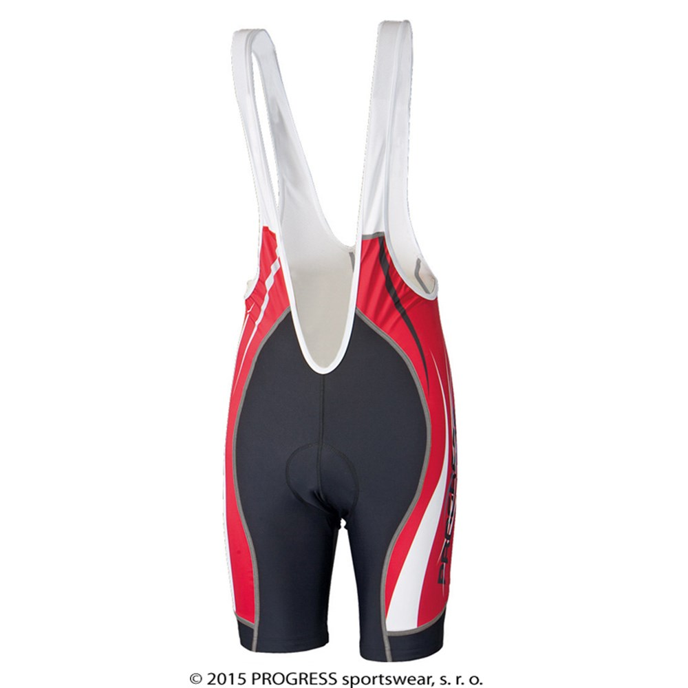 RIDER BIB mens short tights with padding black/red print