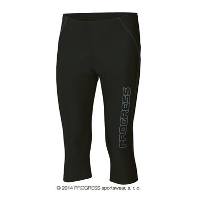 REACTIV mens 3/4 tights with padding black/grey sew.