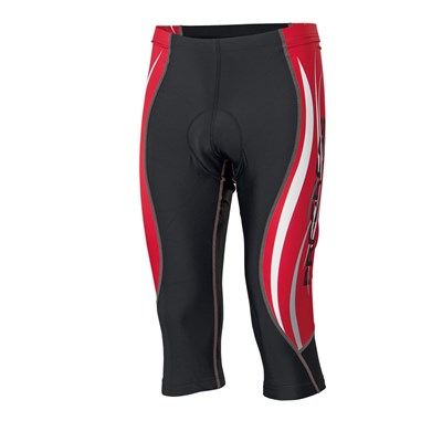 BS RIDER 3Q 21LC 3/4 tights with cushion insert black/red print