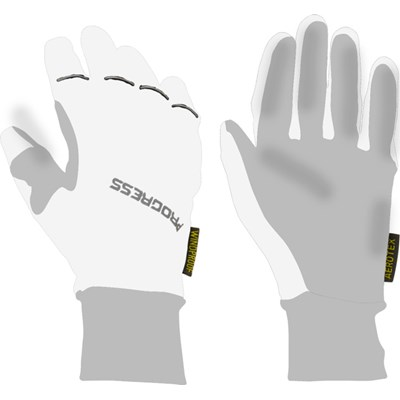 SNOWRIDE GLOVES sports winter gloves white/grey