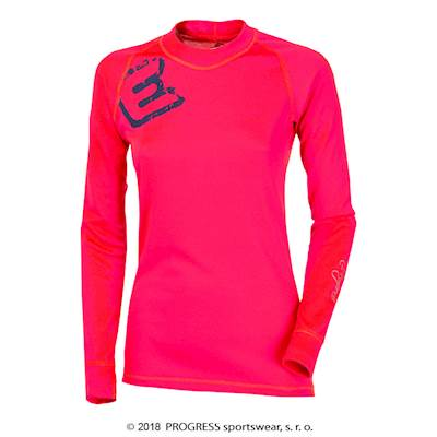 DF NDRZ PRINT ladies long sleeve T-shirt pink