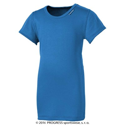 MS NKRD kids baselayer short sleeve T-shirt Md.blue