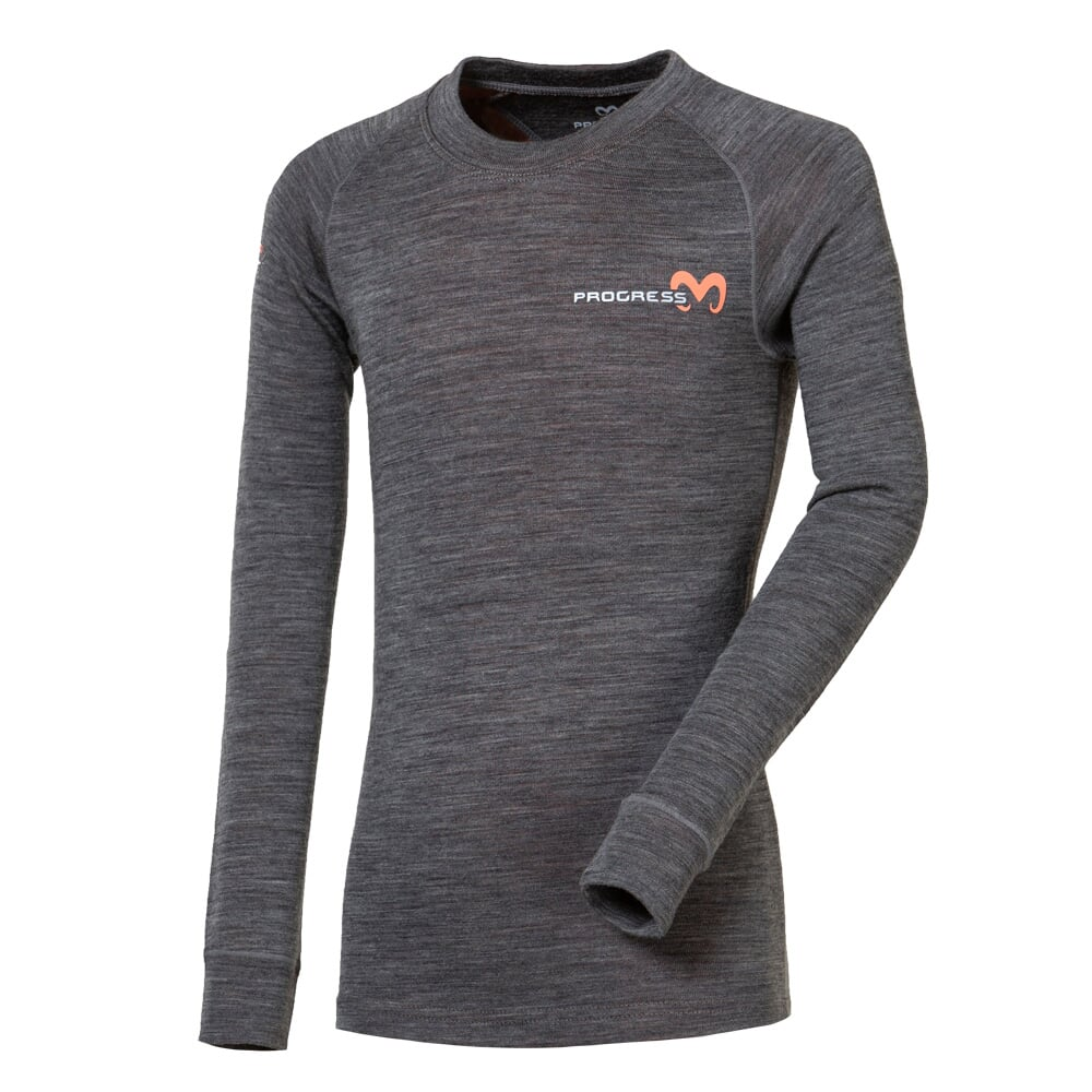 MB TDRD kid's functional long-sleeved T-shirt grey melange/petroleum