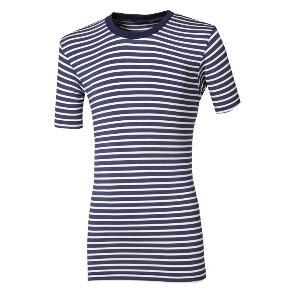 NEMO kids bomboo T-shirt blue-white stripes