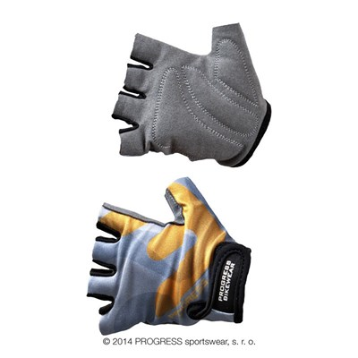 KIDS MITTS kids half finger cycling mitts grey/orange