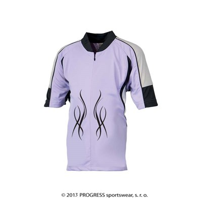 DROPPY kids cycling jersey purple/white/black