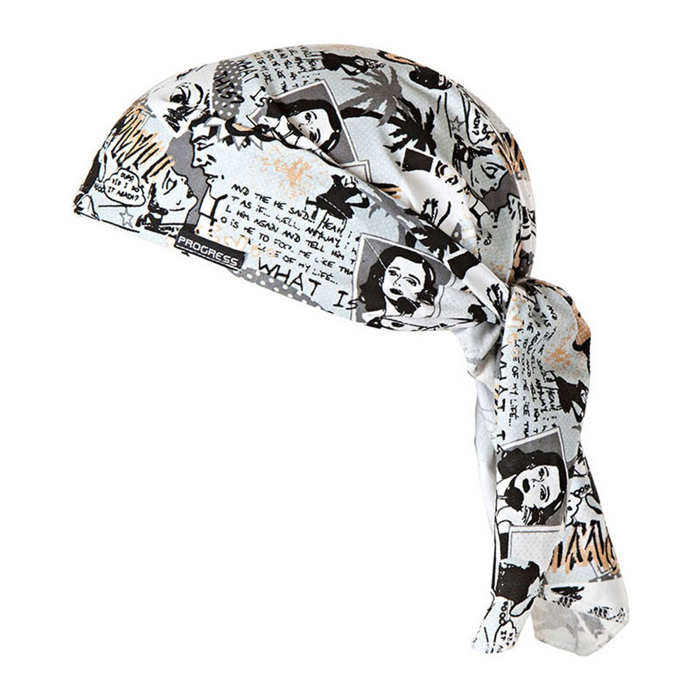 "SAT PRINT fully printed headscarf triangle ""COMIC"" design"
