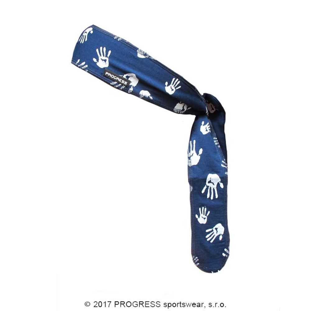 "CEL PRINT fully printed headband tie-back ""LOVE"" design"