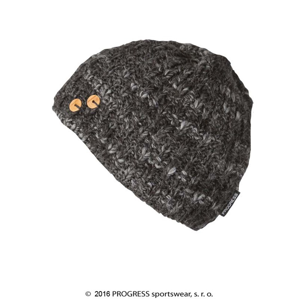 MADLA ladies knitted beanie black melange