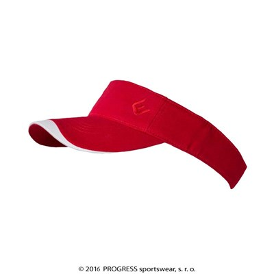 OPEN CAP sports peak headband white