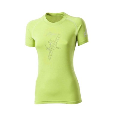E NKRZ ladies bamboo short sleeve T-shirt Lt.green/white sew.