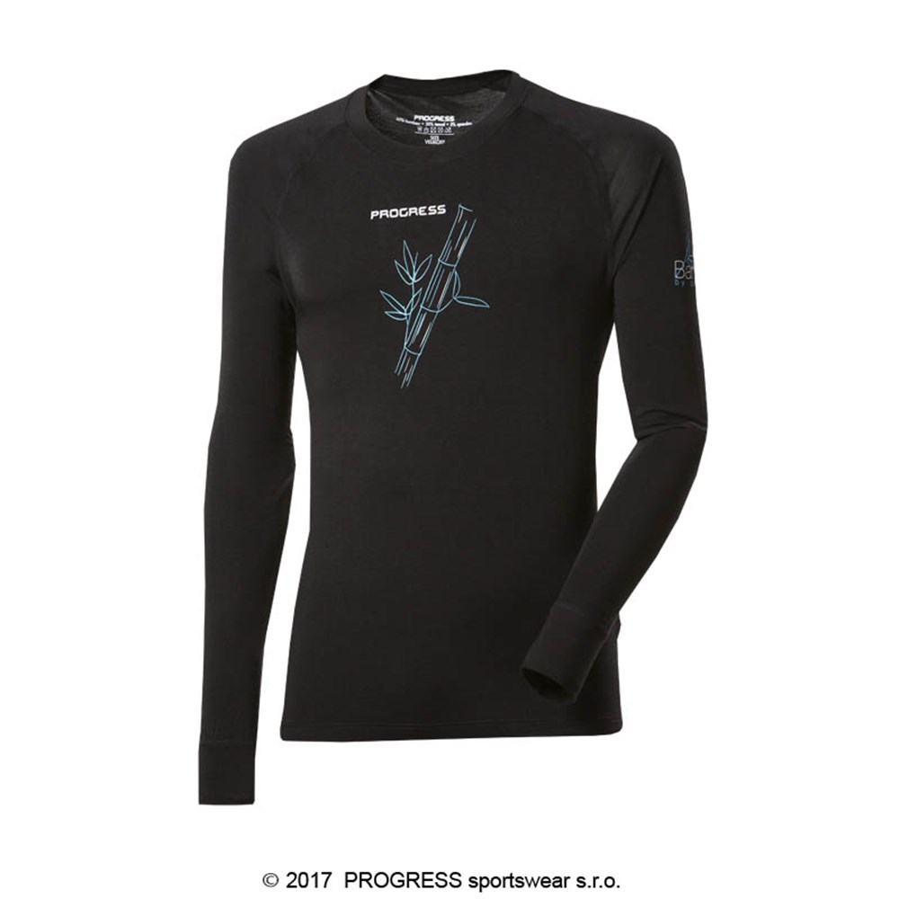 E NDR mens bamboo long sleeve T-shirt Lt.green