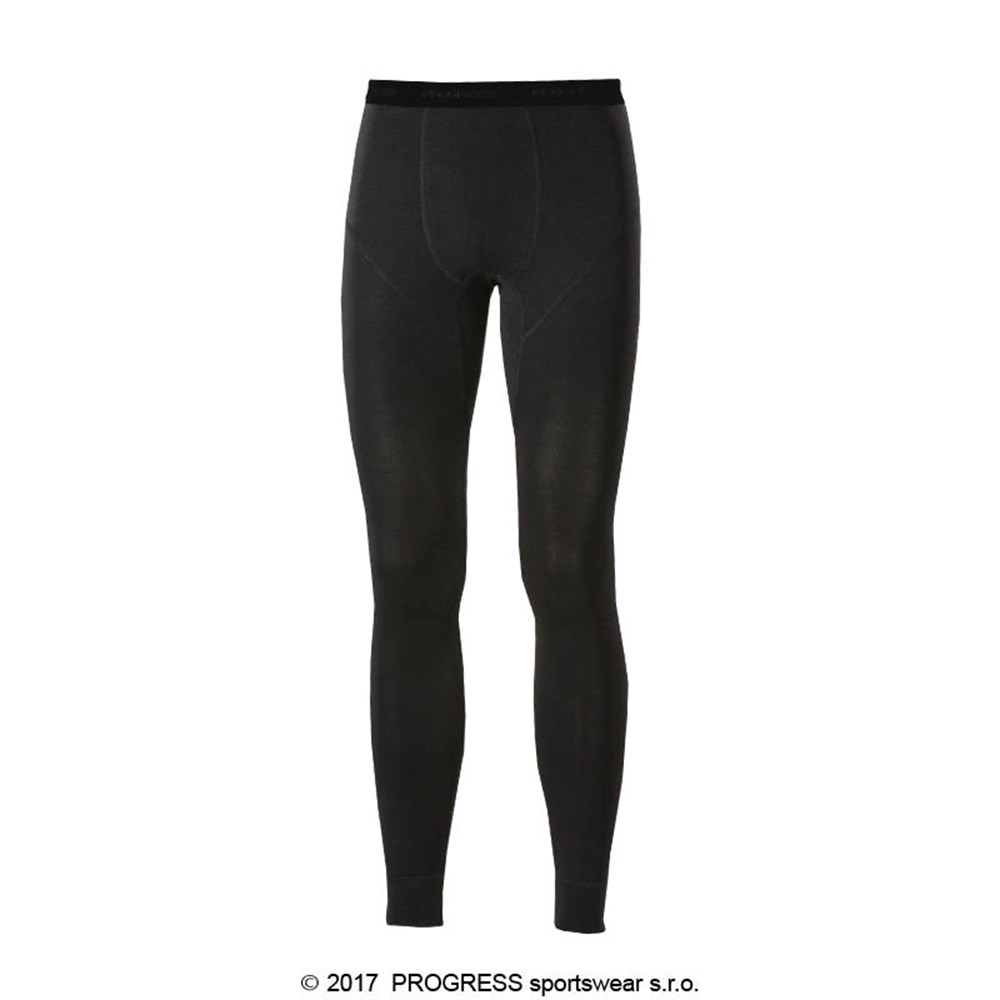 E SDN mens bamboo tights black/Lt.green sew.