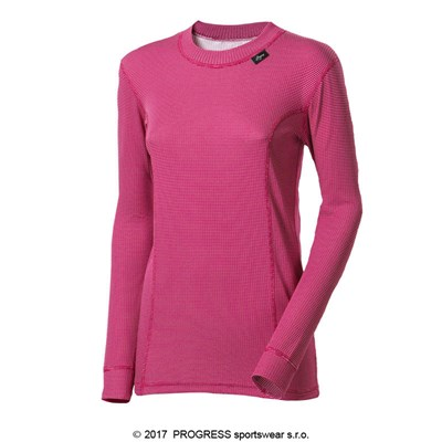 MS NDRZ ladies baselayer long sleeve T-shirt red