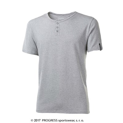 HOPI mens T-shirt grey melange