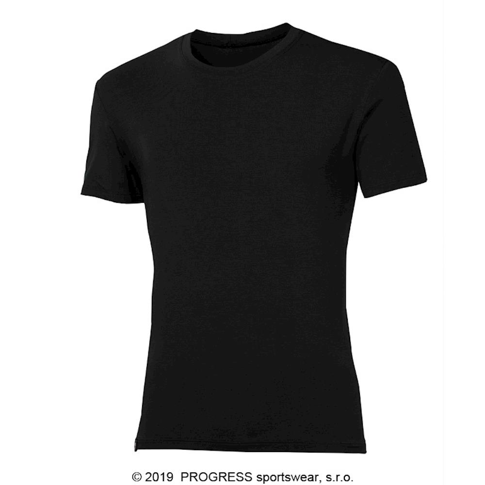 PIONEER mens T-shirt with bamboo black