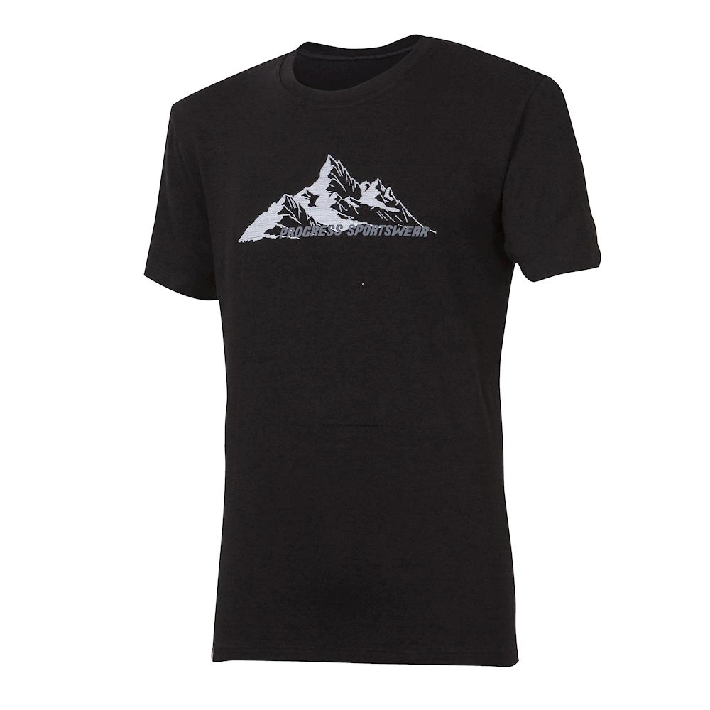 "PIONEER ""MOUNTAIN"" mens bamboo T-shirt  black"