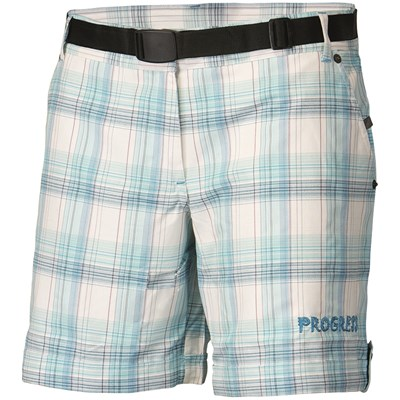 OS BACCARA 24HV ladies checkered shorts blue check