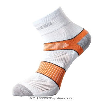 CYCLING socks white/orange