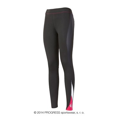 NADINE ladies training tights black/orange