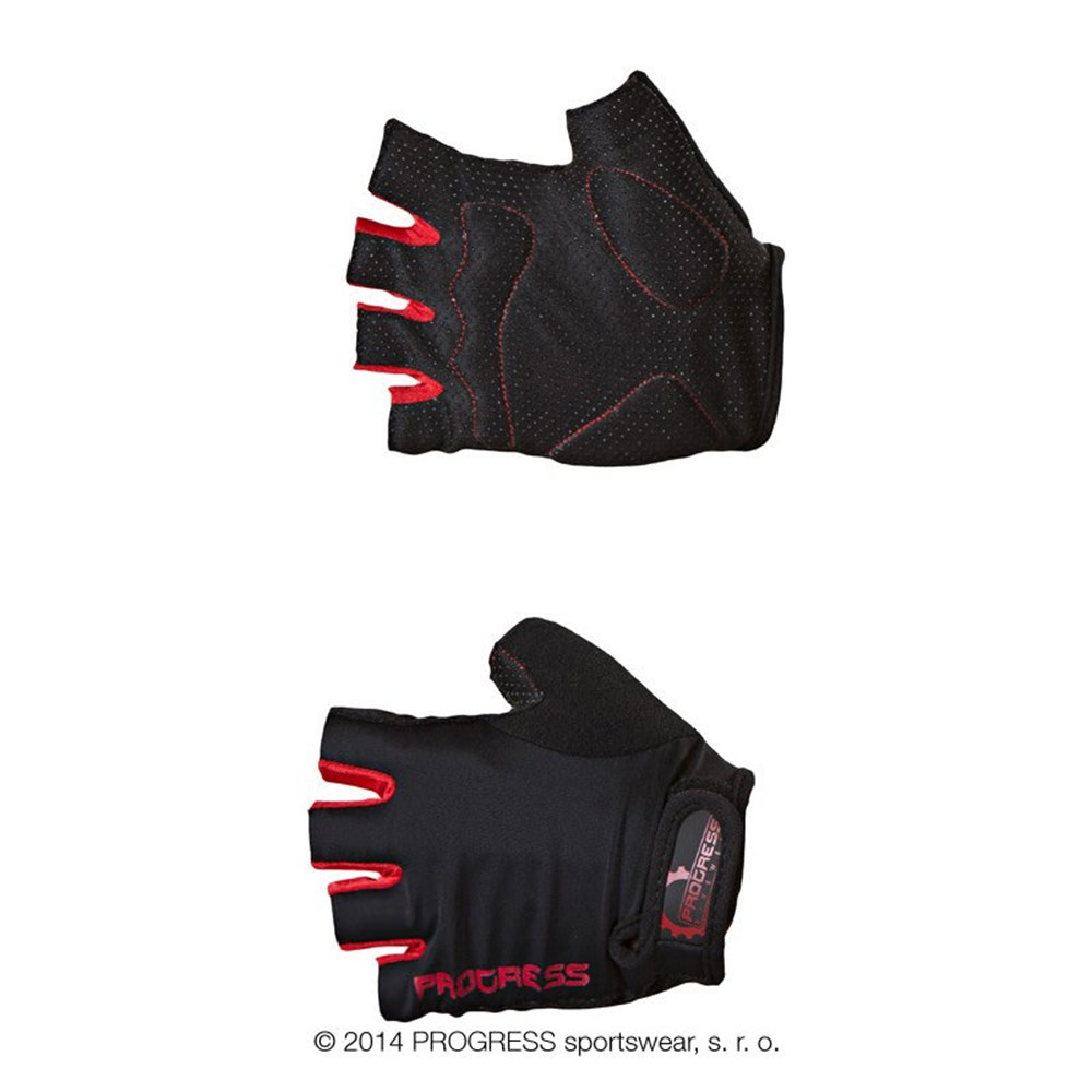 SIMPLE MITTS cycling half finger mitts dark grey/red