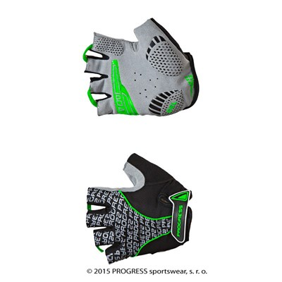 PULL MITTS cycling half finger mitts black/green