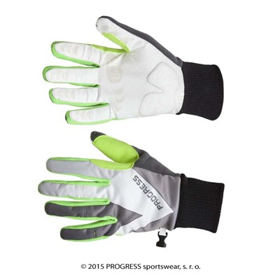 BLIZZARD GLOVES mens windproof gloves black/green/bílá