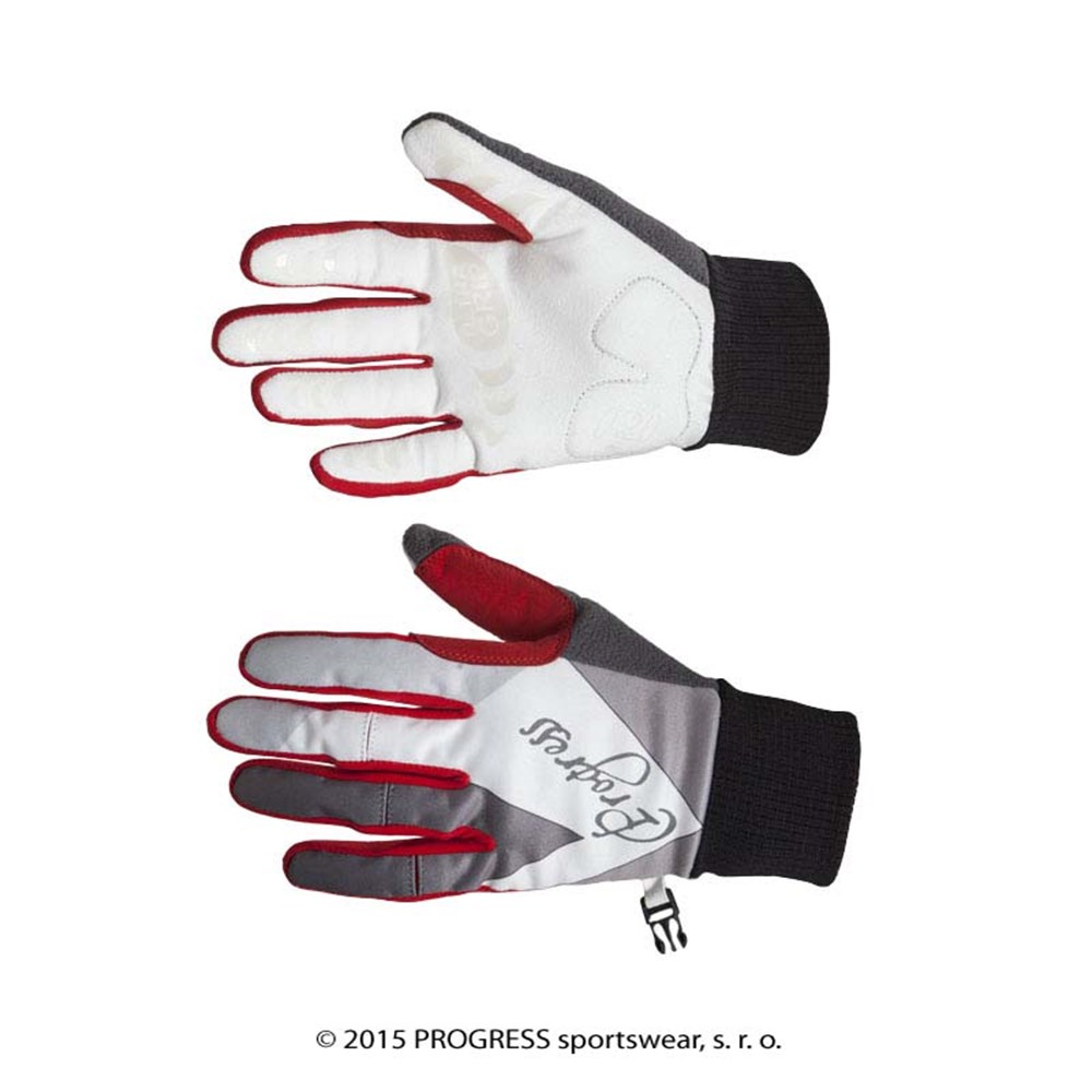 AURORA GLOVES ladies windproof gloves black/red/white