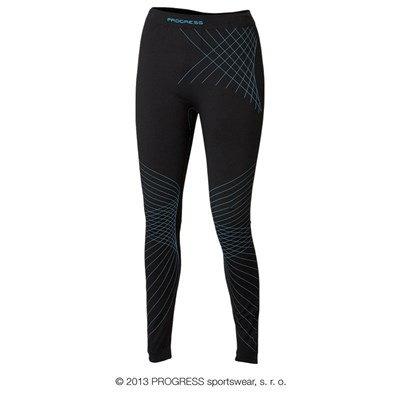 SL SDNZ ladies seamless tights black/Lt.blue