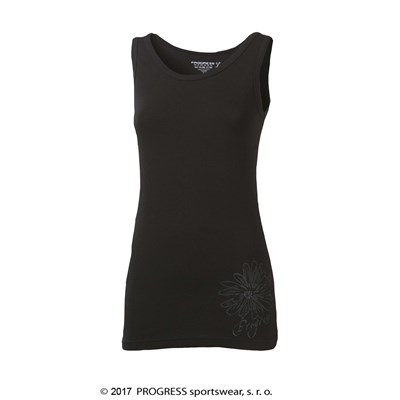 NOVARA ladies singlet with bamboo grey melange
