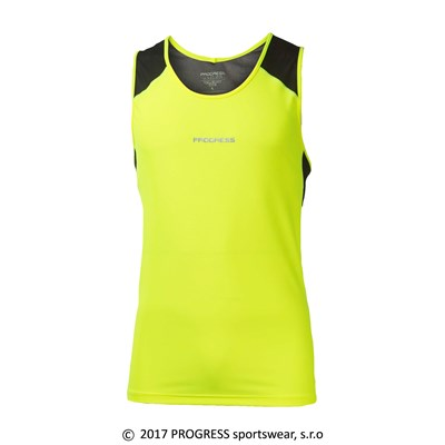 GUMP HI-VIZ mens sports singlet reflective yellow/black