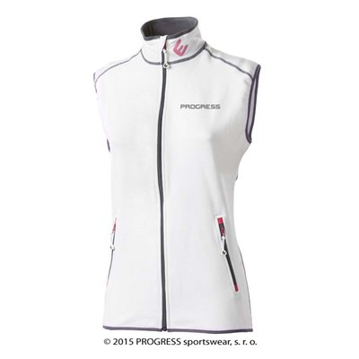 TARA ladies full zip vest white