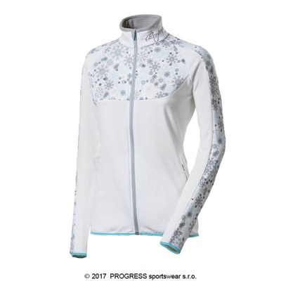 GERDA ladies sports full zip jacket white