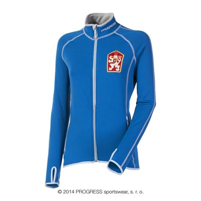 TIMURA ladies retro CSSR sports jacket blue