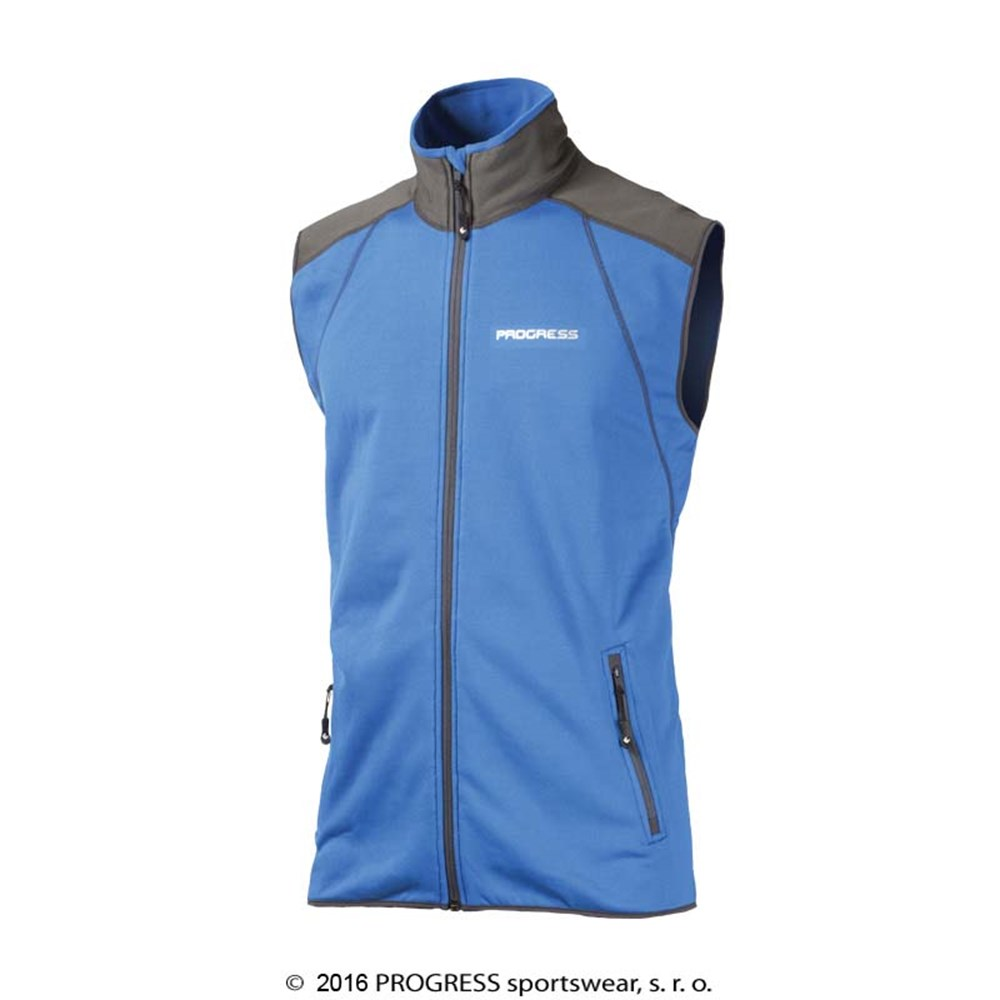 TARTAR mens full zip vest blue/black