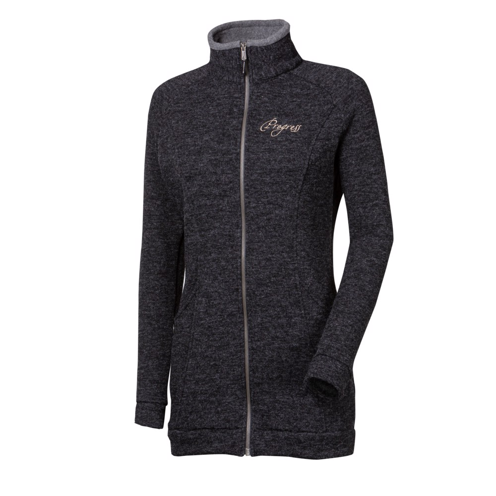 TS EXPANZA ladiess full zip sports coat with wool black melange