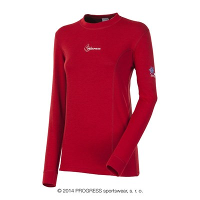 WS TDRZ ladies crew long sleeve T-shirt red