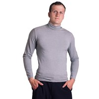 ROLLAR mens bamboo turtleneck long sleeve T-shirt black
