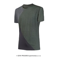 CRUISER mens sports T-shirt grey melange/blue melange