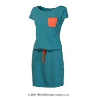 MONIKA ladies dress with bamboo salmon