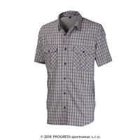 MUSTANG mens bamboo shirt blue checks