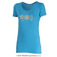 "SONATA ""TREES"" ladies T-shirt turquoise"