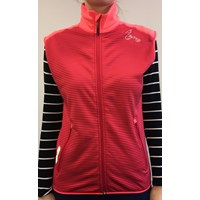 TARA ladies full zip vest black/Lt.blue