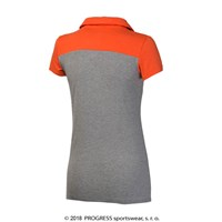YUKI ladies bamboo polo shirt grey/grey melange