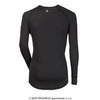 ST NDR mens baselayer long sleeve T-shirt black